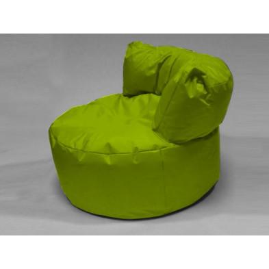 Repose-pied et pouf vert L. 96 x P. 96 x H. 75 cm  collection Stlouis