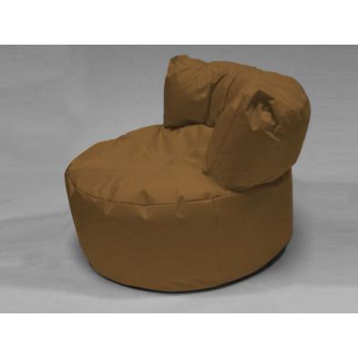 Repose-pied et pouf marronL. 96 x P. 96 x H. 75 cm collection Stlouis