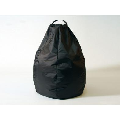 Repose-pied et pouf noir design L. 80 x P. 80 x H. 96 cmv  collection Spineda