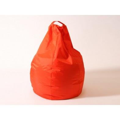 Repose-pied et pouf orange design L. 80 x P. 80 x H. 96 cm  collection Spineda