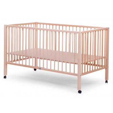 Parc bébé pour jumeaux moderne beige en bois massif hêtre 150x80 cm Collection Ruan