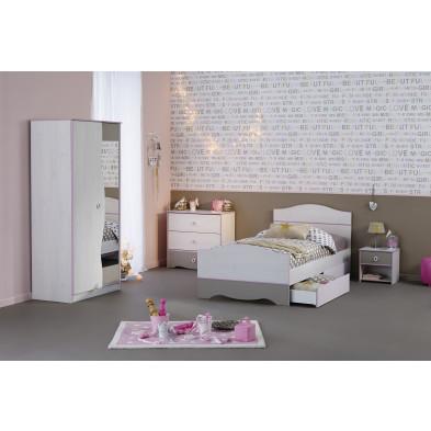 Chambre complète pour enfant moderne blanc en panneaux de particules de haute qualité Collection Landsmeer