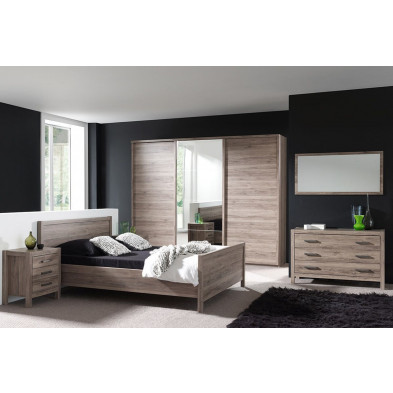 Chambre adulte complète marron contemporain collection Pollemans
