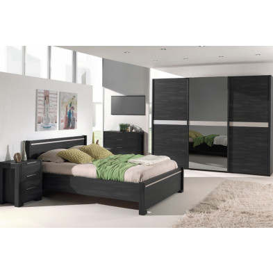 Chambre adulte complète marron contemporain en collection Jascha