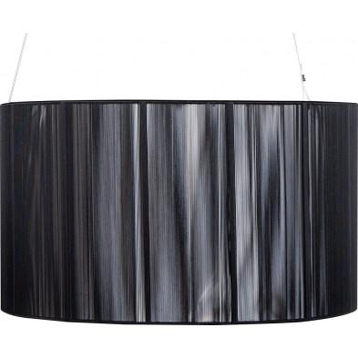 Lampe suspension 50 cm design cosy coloris noir collection Serta