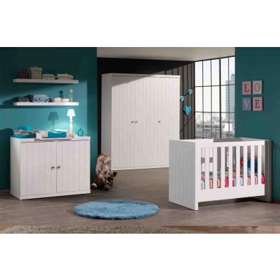 Chambre bébé complète blanc contemporain en collection Size