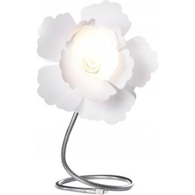 Lampe de table design fleur coloris blanc L. 30 x P. 40 x H. 55 cm collection Cerredolo