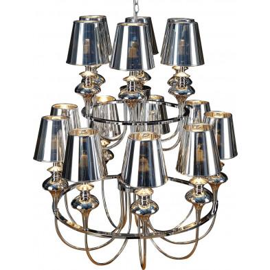 Lustre 90 cm design  baroque à 15 lumières collection Baganzola