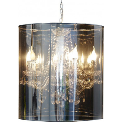Suspension 60 cm design à 5 lampes collection Golden