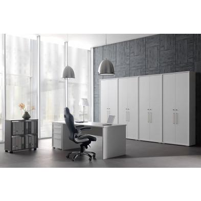 Ensemble de bureau blanc design en cm de largeur collection Ryo