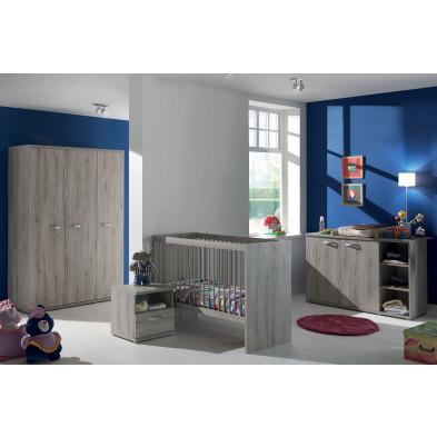 Chambre bébé complète gris moderne en  panneaux de particules collection Devreugd