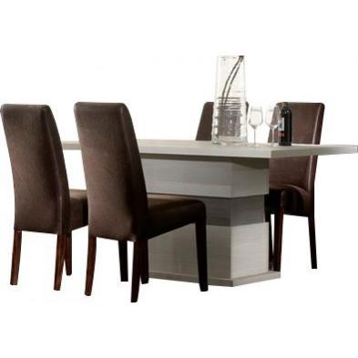 Table de salle à manger contemporaine blanc design  collection Jildou