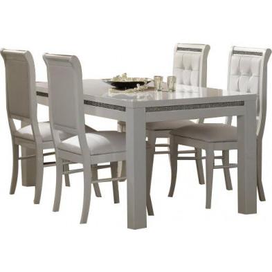 Ensembles tables & chaises blanc design collection Hielke
