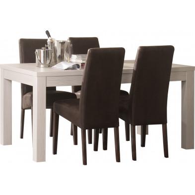 Ensembles tables & chaises marron design collection Harkema