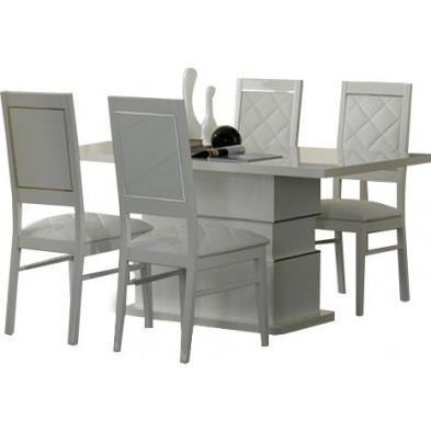 Ensembles tables & chaises blanc design collection Sanzeno