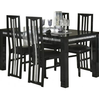 Ensembles tables & chaises noir design collection Papanice