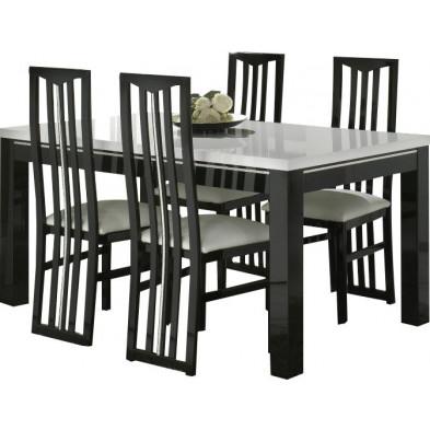 Ensembles tables & chaises noir design collection Check