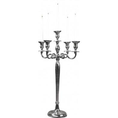 Chandelier baroque de 80 cm argenté à 5 branches collection Eijgenraam