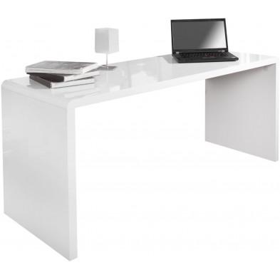 Bureau design coloris blanc L. 160 x P. 60 x H. 75 cm collection Gieben