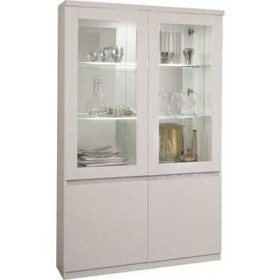 Vitrine blanc design en panneaux de particules de haute qualité L. 115 x P. 40 x H. 191 cm collection Mailbox