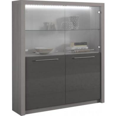 Argentier - vaisselier - vitrine gris design L. 120 x P. 40 x H. 149 cm collection Bulfons