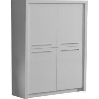Argentier - meuble bar blanc design en panneaux de particules en finitions laquées L. 120 x P. 40 x H. 149 cm collection Wake