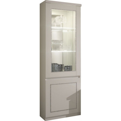 Vitrine blanc design L. 58 x P. 40 x H. 191 cm collection Vanzoeren