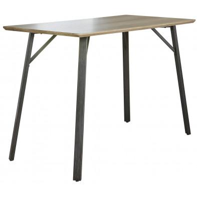 Table de bar marron design L. 140 x P. 70 x H. 92 cm  collection Villasimius