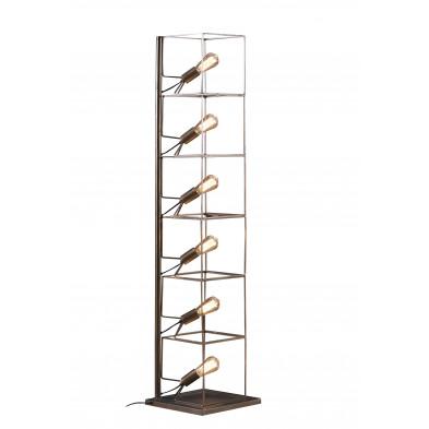 Lampadaire marron design en acier L. 25 x P. 25 x H. 154 cm collection Albertabeach
